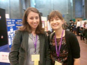 Jill Harris & Kate Furby at the San Diego Science Fair