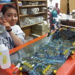 Molly raising abalone larvae