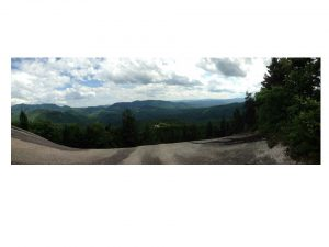 The view from the top during our group hike in Waterville Valley, NH.