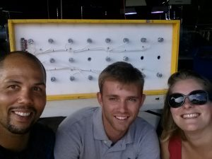 The crew: Levi, me, and Susan Kram, a fellow Smith Lab member.